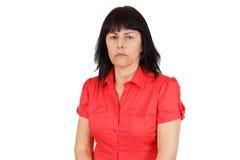 生气中年妇女 免版税库存照片