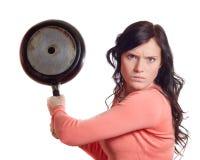 生气妇女年轻人 库存图片