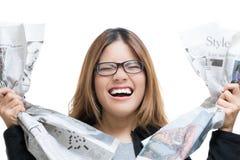 生气职业妇女 图库摄影