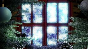 生气蓬勃的假日圣诞节背景 库存例证