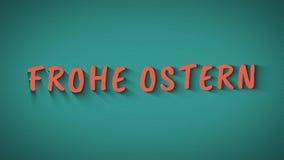 生气蓬勃的弹起的信件'Frohe Ostern' 向量例证
