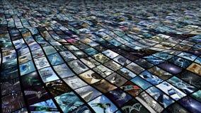 生气蓬勃的录影墙壁,海浪 圈能4K 皇族释放例证