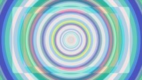 生气蓬勃的色的催眠螺旋背景 无缝的圈 圈子塑造彩虹颜色无缝的圈自转 股票视频