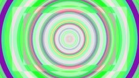 生气蓬勃的色的催眠螺旋背景 无缝的圈 圈子塑造彩虹颜色无缝的圈自转 向量例证