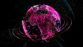 生气蓬勃的行星红色 向量例证
