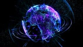 生气蓬勃的行星蓝色 向量例证