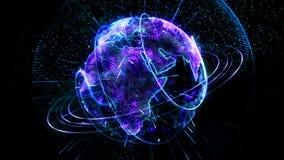 生气蓬勃的行星转动蓝色 库存例证
