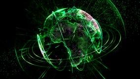 生气蓬勃的行星绿色 向量例证