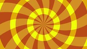 生气蓬勃的辐形背景 黄色 向量例证