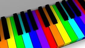 生气蓬勃的钢琴 库存例证