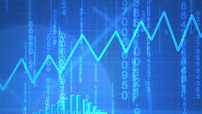 生气蓬勃的经济数据 向量例证