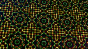 生气蓬勃轻走路绿色和黄色小点和星形状 库存例证