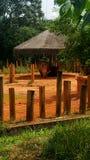 生气非洲的犀牛 免版税图库摄影