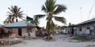 生活在桑给巴尔一个小村庄  库存图片