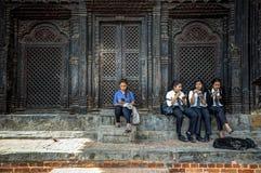 生活在Bhaktapur,尼泊尔 免版税库存照片