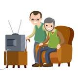 生活方式、祖父母休闲和休闲  库存例证