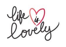 生活是可爱的 向量例证