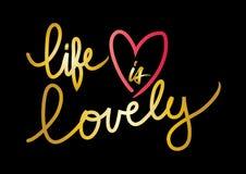 生活是可爱的 库存例证