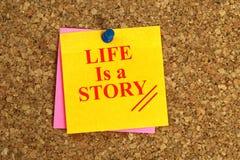 生活是故事标题 免版税图库摄影