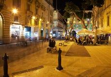 生活每夜的街道valetta 库存图片