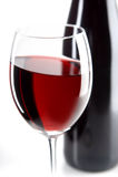 生活红色不起泡的酒 图库摄影