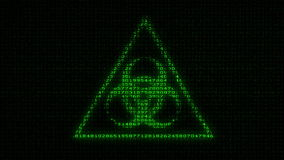 生物危害品标志-数字资料代码矩阵 影视素材
