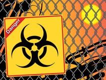 生物危险等级符号。 免版税库存照片