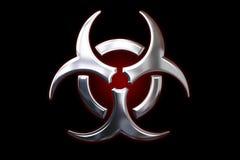 生物危险等级金属符号 免版税库存照片