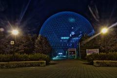 生物圈、环境博物馆和夜 免版税库存照片