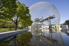 生物圈在蒙特利尔,加拿大,魁北克 库存图片