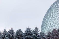 生物圈在蒙特利尔,加拿大 免版税图库摄影