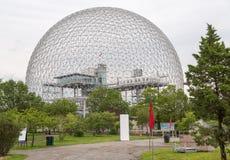生物圈在Parc的吉恩德拉波,魁北克,加拿大蒙特利尔 免版税库存图片