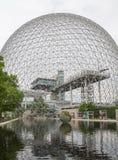 生物圈在Parc的吉恩德拉波,魁北克,加拿大蒙特利尔 免版税库存照片