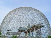 生物圈是一个博物馆在蒙特利尔致力了环境 免版税库存图片