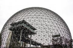 生物圈的金属框架在蒙特利尔 免版税库存照片
