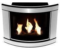 生物壁炉凸面钢制框架 免版税库存图片