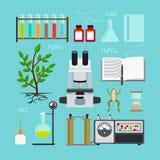 生物实验室象 库存例证