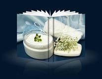 生物家庭做的产品书  免版税库存照片