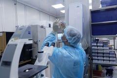 生物技术公司BIOCAD研究实验室  库存图片