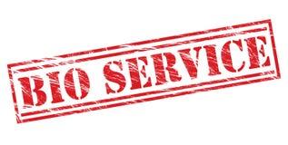 生物服务红色邮票 免版税库存照片