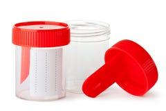 生物材料的两个医疗容器 免版税库存图片