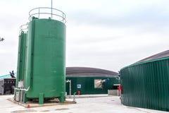 从生物气发电站的电 免版税库存图片