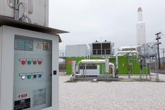从生物气发电站的电 库存图片