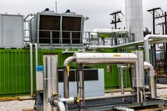 从生物气发电站的电 免版税图库摄影