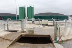 从生物气发电站的电 图库摄影