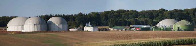 生物气工厂。 免版税库存照片