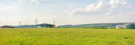 生物气植物,农场,全景 库存图片