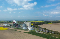 生物燃料工厂 库存图片