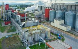生物燃料工厂 免版税图库摄影