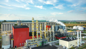 生物燃料工厂 免版税库存照片